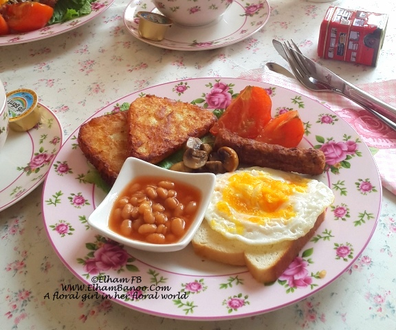 English breakfast at home