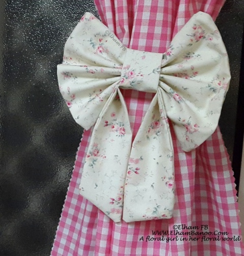 floral fabric bow ElhamFB
